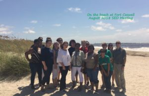 SED Meeting 8-2018 On the Beach at Fort Caswell