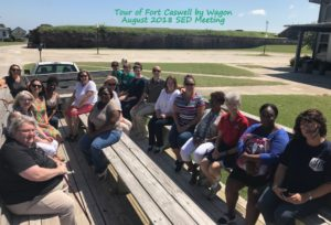 SED Fort Caswell Brunswick Co 8-17-18 Wagon Tour